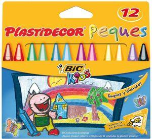 BIC KIDS CERAS 12 COLORES PLASTIDECOR PEQUES