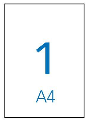 APLI ETIQUETAS A4 ADHESIVAS 210 X 297MM. 100 HOJAS