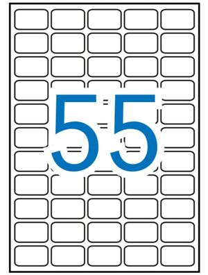 APLI ETIQUETAS A4 REMOVIBLES ADHESIVAS  36,8 X 23,8MM. 100 HOJAS