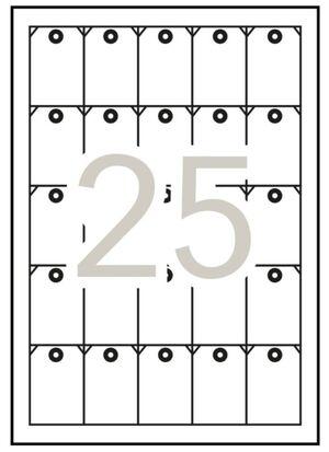APLI ETIQUETAS A4 MICROPERFORADA COLGANTES ADHESIVAS 36 X 53MM. 10 HOJAS