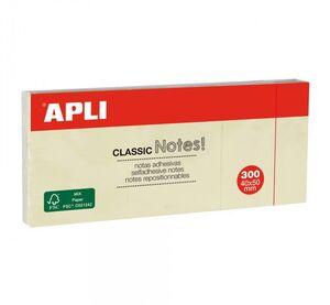 APLI NOTAS ADHESIVAS CLASSIC 38 X 51MM AMARILLO 3 UNDS.