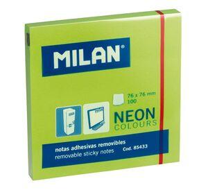 MILAN NOTAS ADHESIVAS 76X76 NEON VERDE