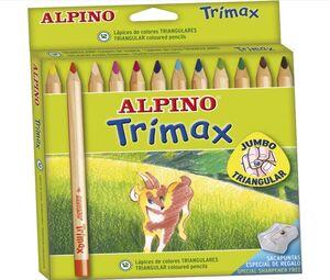 ALPINO LÁPICES DE MADERA TRIMAX 12 COLORES