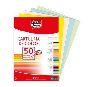 FIXO CARTULINAS A4 180G. 50 UNDS. MARFIL