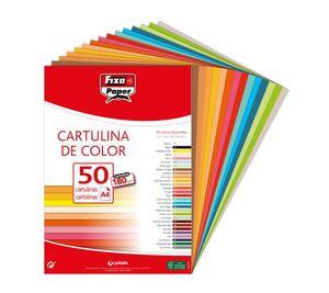 FIXO CARTULINAS A4 180G. 50 UNDS. AMARILLO CANARIO