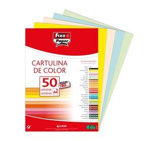 FIXO CARTULINAS A4 180G. 50 UNDS. VAINILLA