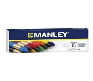 MANLEY CERAS BLANDAS 15 COLORES