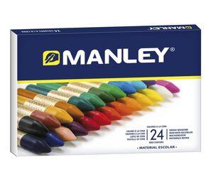 MANLEY CERAS BLANDAS 24 COLORES