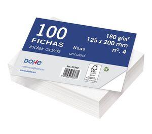 DOHE FICHAS Nº 4 LISAS 125 X 200MM. 100 HOJAS