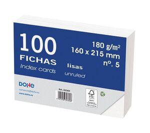 DOHE FICHAS Nº 5 LISAS 160 X 215MM. 100 HOJAS