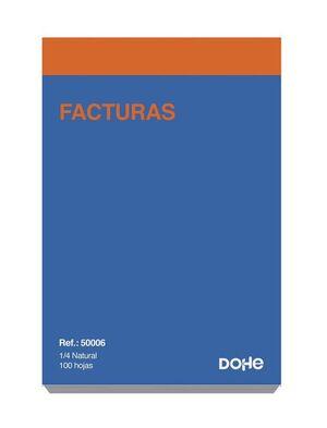 DOHE TALONARIO FACTURAS 4º NATURAL SENCILLO