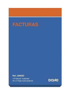 DOHE TALONARIO FACTURAS 4º NATURAL DUPLICADO