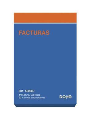 DOHE TALONARIO FACTURAS 8° NATURAL DUPLICADO