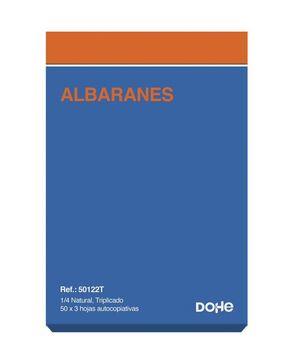 DOHE TALONARIO ALBARANES 4° NATURAL TRIPLICADO 150 HOJAS