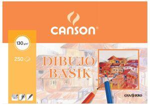 CANSON PAPEL BASIK A4 CON RECUADRO 250 HOJAS