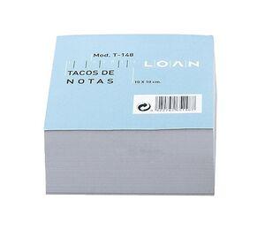 LOAN TACO NOTAS BLANCO ENCOLADO 100 X 100MM.