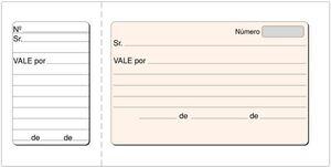 LOAN TALONARIO VALES 1/3 T-22 APAISADO CON MATRIZ