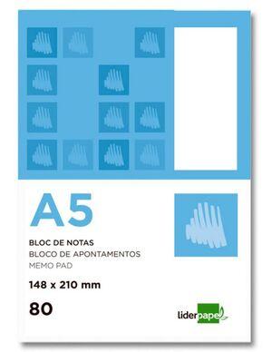 LIDERPAPEL BLOC NOTAS A5 LISO