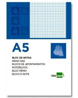 LIDERPAPEL BLOC NOTAS A5 CUADRÍCULA