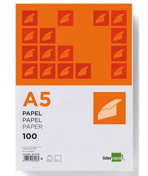 LIDERPAPEL PAPEL A5 80GRS. 100 HOJAS