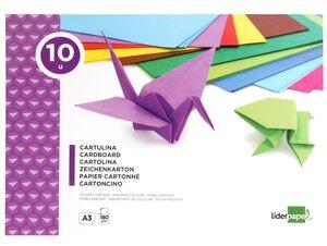 LIDERPAPEL BLOC CARTULINA A3 10 COLORES