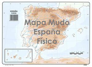 SELVI MAPA ESPAÑA FÍSICO MUDO A4
