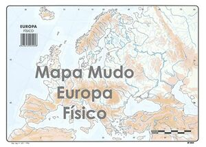 SELVI MAPA EUROPA FÍSICO MUDO A4