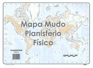 SELVI MAPA PLANISFERIO FÍSICO MUDO A4