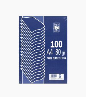 TAURO PAPEL A4 80GRS. BLANCO 100 HOJAS