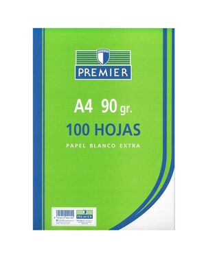 PREMIER PAPEL A4 EXTRA 90GRS. LISO 100 HOJAS
