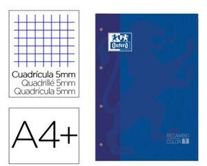 OXFORD RECAMBIO A4 CUADRÍCULA 5MM. AZUL OSCURO
