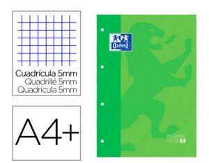OXFORD RECAMBIO A4 CUADRÍCULA 5MM. VERDE MANZANA