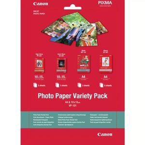 CANON PAPEL FOTOGRÁFICO VARIADO 10X15 Y A4 20 HOJAS