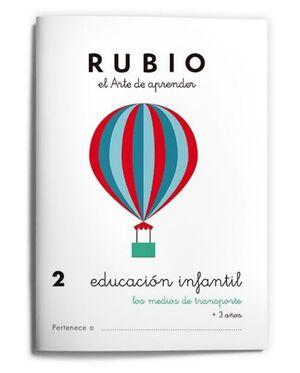 RUBIO EDUCACIÓN INFANTIL 2. LOS MEDIOS DE TRANSPORTE