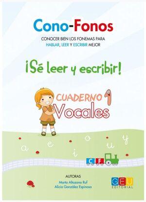 CONO-FONOS 3. ¡SE LEER Y ESCRIBIR! CUADERNO 1