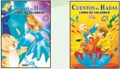 COLOREA CUENTOS DE HADAS (2 TÍTULOS)