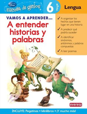 VAMOS A APRENDER... A ENTENDER HISTORIAS Y PALABRAS. 6 AÑOS. LENGUA