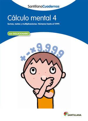 CALCULO MENTAL 4 SANTILLANA CUADERNOS