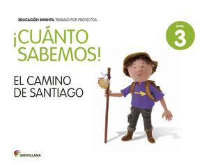 ¡CUÁNTO SABEMOS! NIVEL 3. EL CAMINO DE SANTIAGO. SANTILLANA ´14