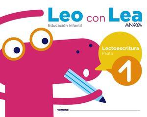 LEO CON LEA. LECTOESCRITURA 1. PAUTA. ANAYA ´17