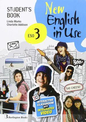 NEW ENGLISH IN USE 3º ESO. STUDENT´S BOOK. BURLINGTON ´16